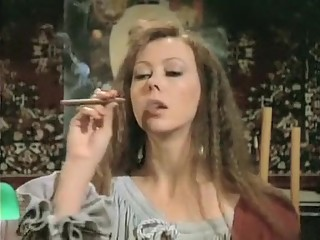 Crazy amateur Vintage, Smoking porn movie