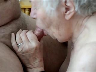 Old granny enjoys sex