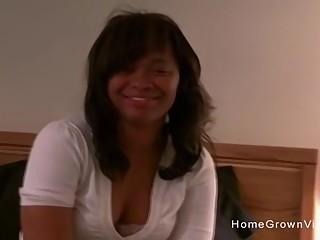 Thick ebony amateur home fuck video