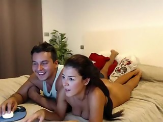 Shes Nude And They'Re Watching What They Did On Their Webca