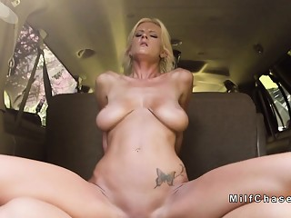 Busty Milf minivan buyer bangs big cock
