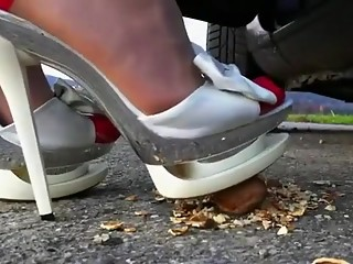 Fabulous homemade Outdoor, High Heels porn video