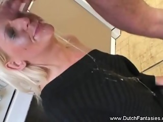 Dutch Blonde Blowjob Abuse