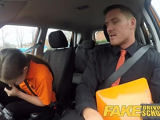 Fake Driving School Backseat blowjobs and deep creampie