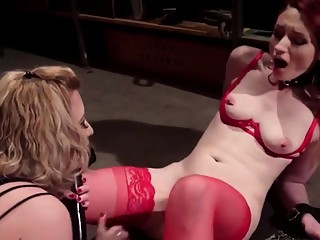 Cherry Torn Strapon Fucks Violet Monroe