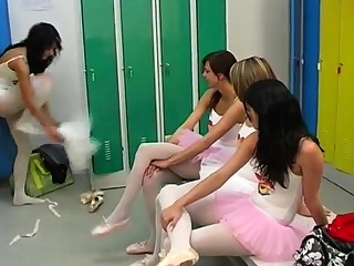 Girl flashing pussy and boobs first time Hot ballet gal orgy