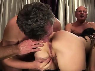 Sensational babe pleasures a few raging boners