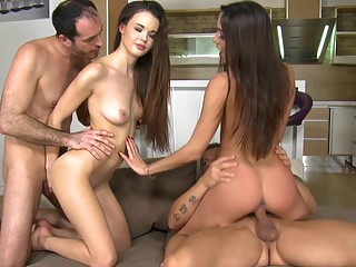Home party with euro swingers