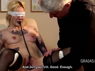 Slave training, nipple punishment
