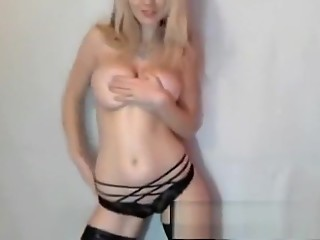 Sexy stripper girl does a show live on webcam