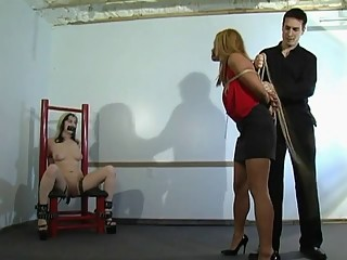 Master and his two sexy slaves