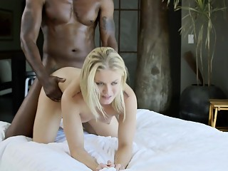 BLACKED Sexy Ash Hollywood Cheats with Her BBC Trainer