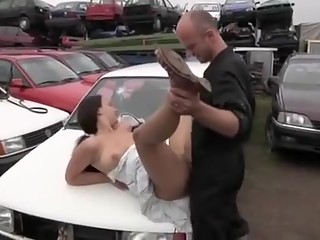 Incredible Natural Tits, Outdoor sex scene