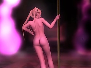 DOA Food: Nude Marie Rose Pole Dance
