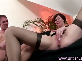 Mature babe fucked good and deep by older guys stiff cock