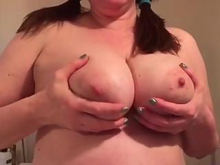 GF sending big tit fondling vid
