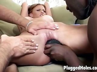Big tit girl get banged deep down
