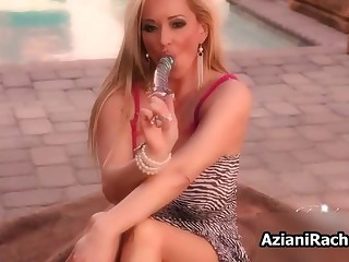 Big titted loves using her big dildo