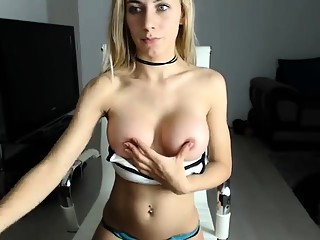 Blonde amateur with massive boobs banged in public for cash