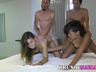 brunoymaria dos parejitas jovenes su primer intercambio
