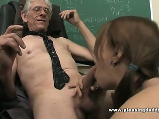 Young Slut Fucks Old Teacher To Pass The Class