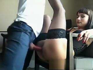 Tempting MILF ass fucking on livecam