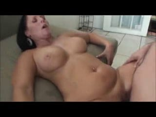Hot Brunette Cougar Bangs Son's Friend