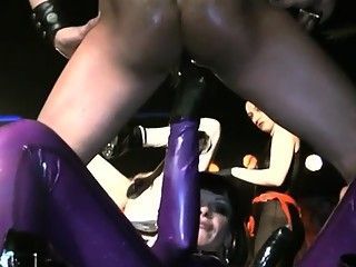 Mistress smothers thrall and tortures with electricity