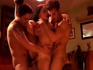 Exotic pornstar Liza Del Sierra in hottest threesomes, brunette porn movie