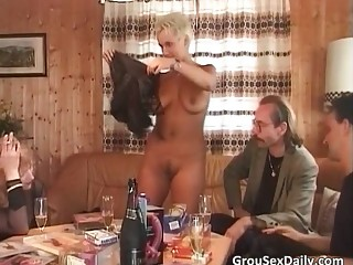 After hot party two horny sluts got
