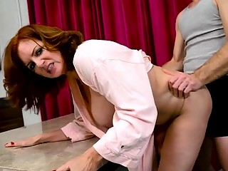 Hot milf blowjob and creampie