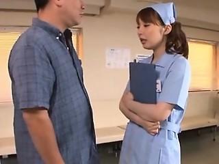 Horny asian nurse endures rod in extra harsh xxx play