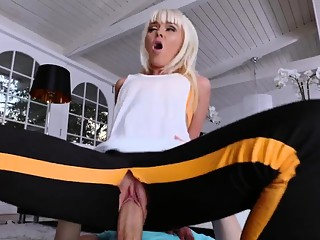 Family strokes couch Stretching Your Stepmom