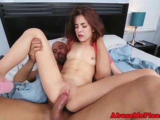 Petite girlfriends tight pussy railed rough