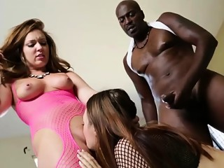 Maddy and Jodi gets worshiped black cock