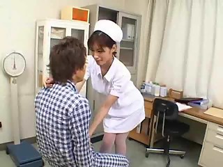 Very Hot and Sexy Asian Nurse - sucking nurse