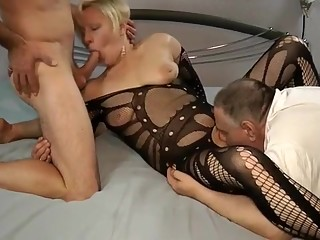 Incredible amateur Threesomes, Blonde porn movie