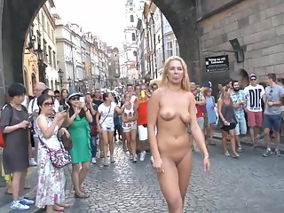 Nude in the streets of Europe