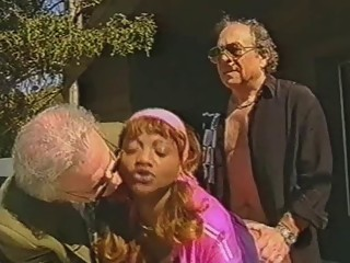 Candice Laforet get hard fucking with two old man