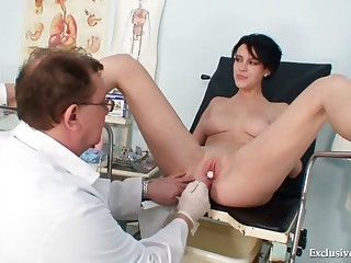 Busty goddess wicked gyno doctor exam
