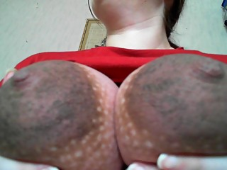 Huge pregnant Areolas