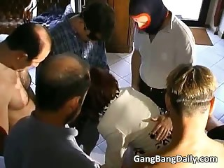 Excellent gang bang in doctors office