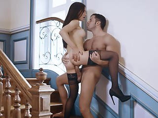 Sex on the stairs