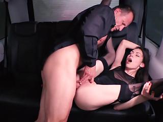 Slut in stockings fucked hard