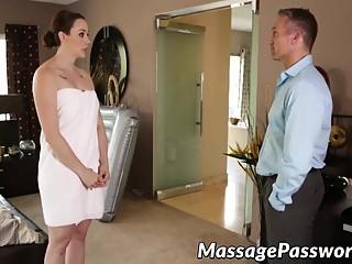Horny Chanel Preston makes massage of Marcus Londons dick