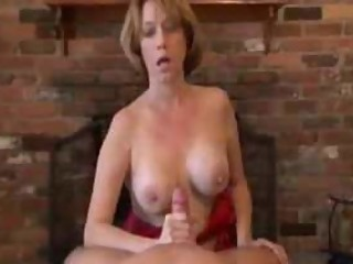 Mature Handjob With Amazing Cumshot On Gym