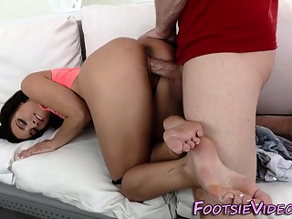 Teens sexy feet spunked