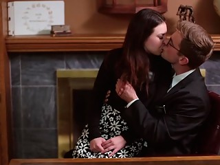 Kissing passionately in the office of the Mayor