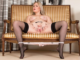 Hot mature in black stockings