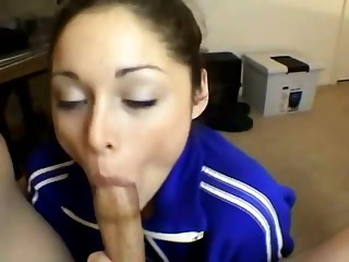 Girlfriend giving me perfect blowjob